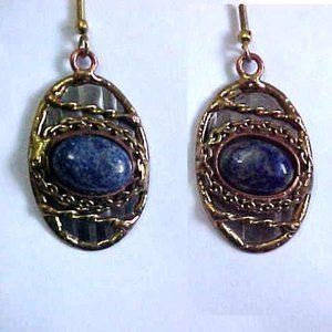 Handmade Mixed Metal Sodalite Earrings